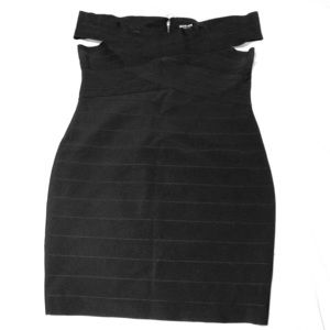 Black, bandage dress.  Size 2X.  Fashion Nova